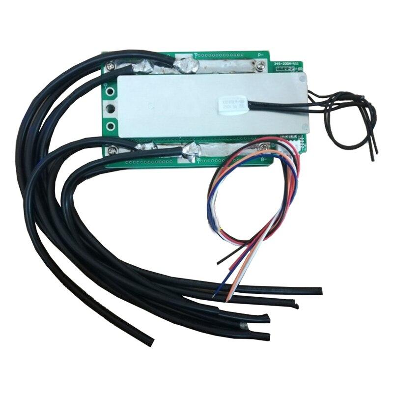 Tüketici Elektroniği'ten Pil Aksesuarları'de 4S 3.2V Lifepo4 lityum demir fosfat koruma levhası 12.8V yüksek akım invertör Bms Pcm motosiklet araba başlangıç (100A) title=
