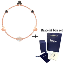 Fashion New Rose Gold Invisible Magnetic Buckle Mouse Bracelet Sleek Minimalist