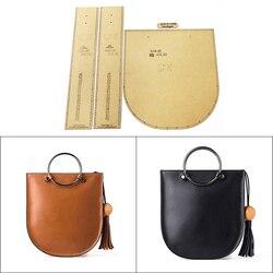 diy leather bag handmade leather tools kraft paper template handbag messenger bag shoulder bag cutting pattern design mold