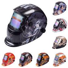 Capacete de soldagem escurecimento máscara de soldagem de soldagem auto lente protetora capacetes escurecimento automático faixa ajustável máscara de soldagem elétrica
