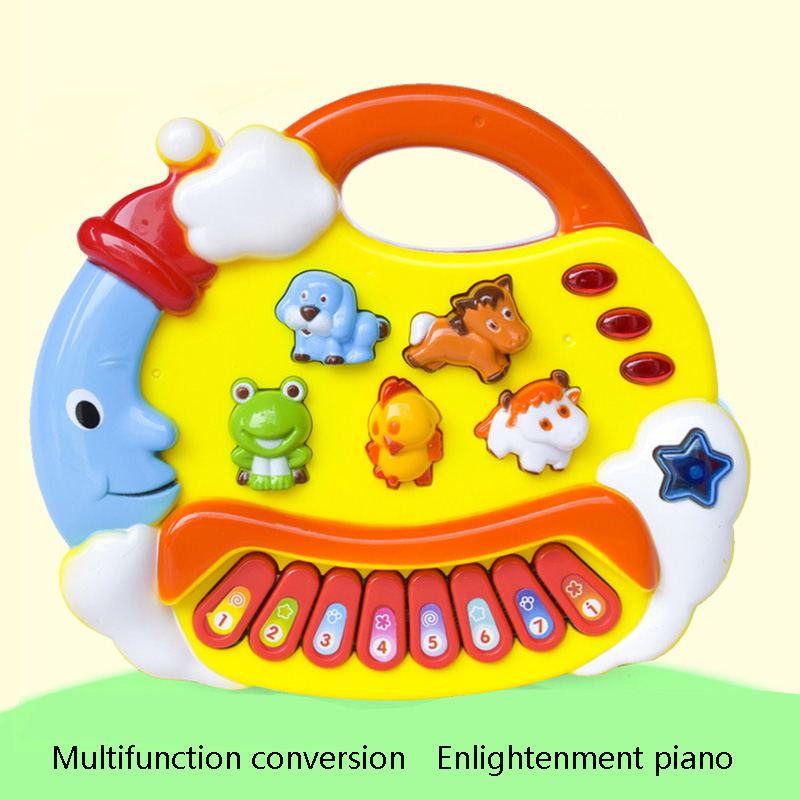 Musical Toys Animal Piano Electronic Keyboard Music Development Educational Baby Toddler Kids Toys