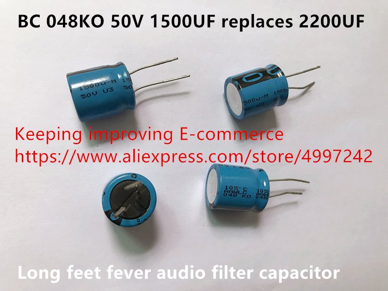 Original new 100% Europe import BC 048KO 50V 1500UF replaces <font><b>2200UF</b></font> long feet fever <font><b>audio</b></font> filter capacitor (Inductor) image