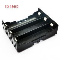 Soporte de batería con Pin 3 Slot caja de almacenamiento de la batería 18650 18650, caja para 3x18650 18650 V-3,7 V, negro, 6 pines, bricolaje, 11,1
