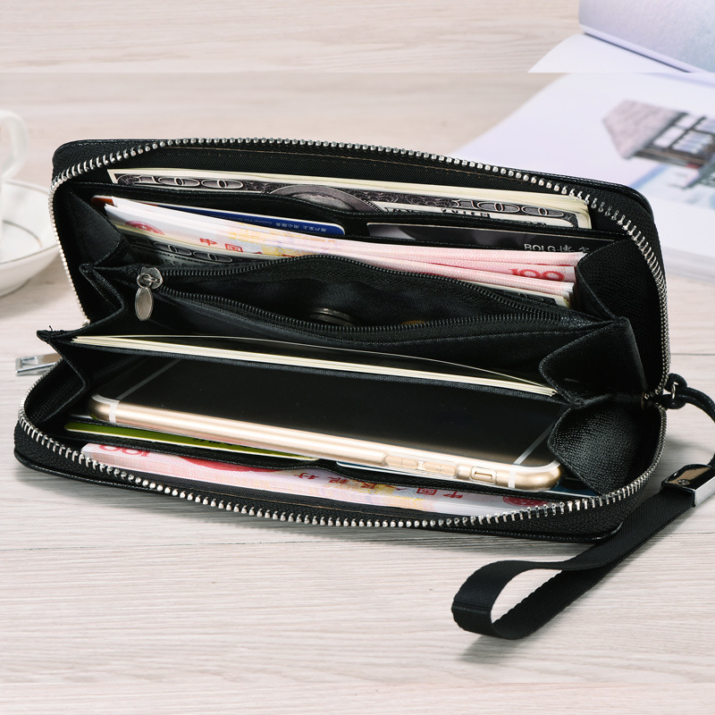 2019 New Style Men Wallets PU Leather Zipper Wallets Quality Male Long Purse With Card Holder Multi-function Wallet For Men Long