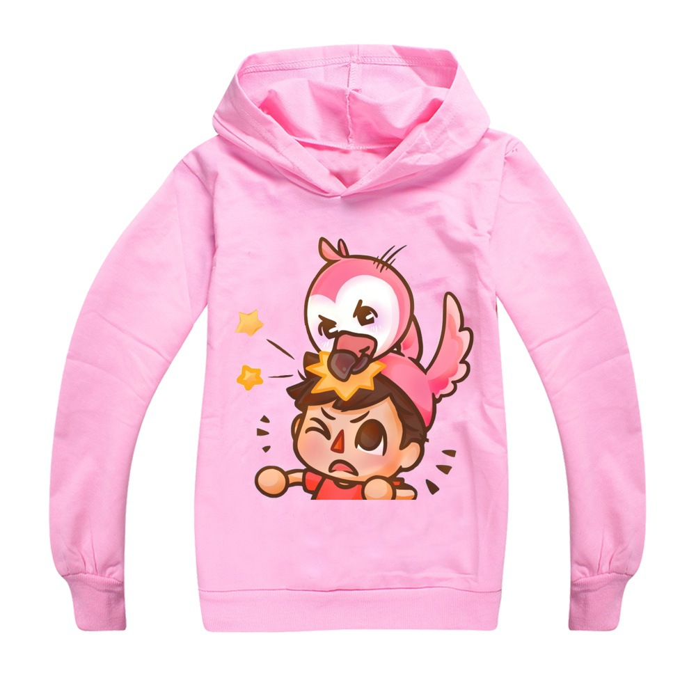 Kids Boys Sweatshirt Flamingo Flim Flam Hoodie Spring Street Sonic Hooded Trendy Fashion Girl Jacket Children Pullover Tops 6