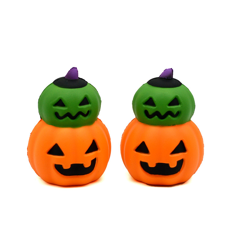 Halloween Pu Slow Springback Devil Pumpkin Toys For Display Rather Than For Use Squishy Children Adult