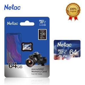 Netac Micro SD карта 64 Гб 128 ГБ 256 ГБ 512 ГБ SD/TF карта памяти U3 V30 класс 10 TF 100 МБ/с./с карта MicroSD для камеры телефона
