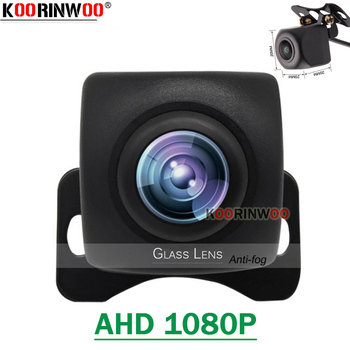 Koorinwoo Wide Degree AHD 1080P Car Rear view Camera Fish Eye Night Vision Reverse Camera Trunk Parking Assist 12V Video System image
