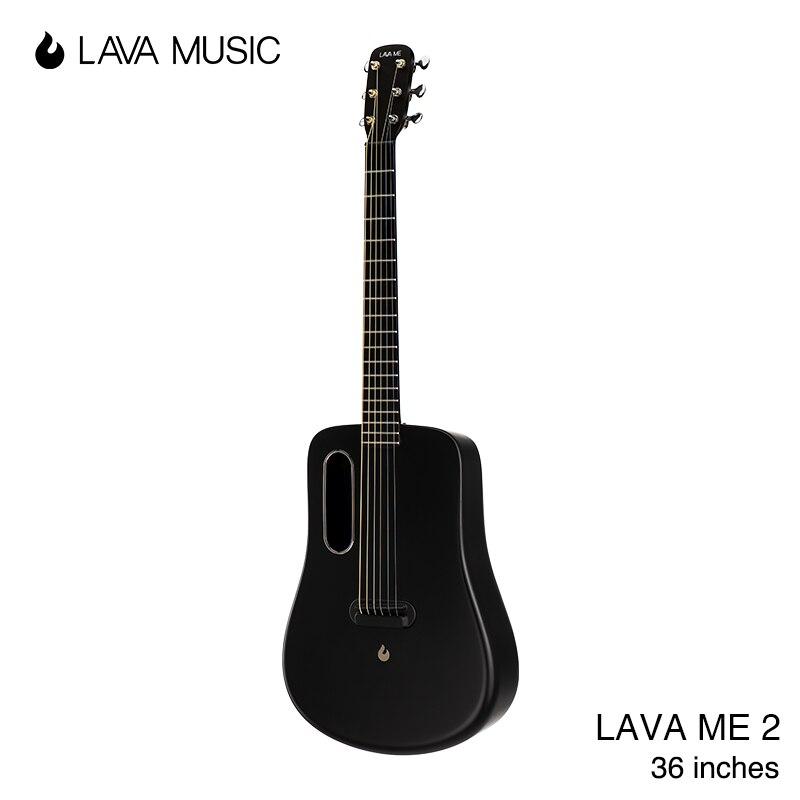 LAVA ME 2 FreeBoost gitara z włókna węglowego gitara akustyczna Instrument elektryczny 36 cali podróży lawa muzyka z torbą/Pick/kabel USB