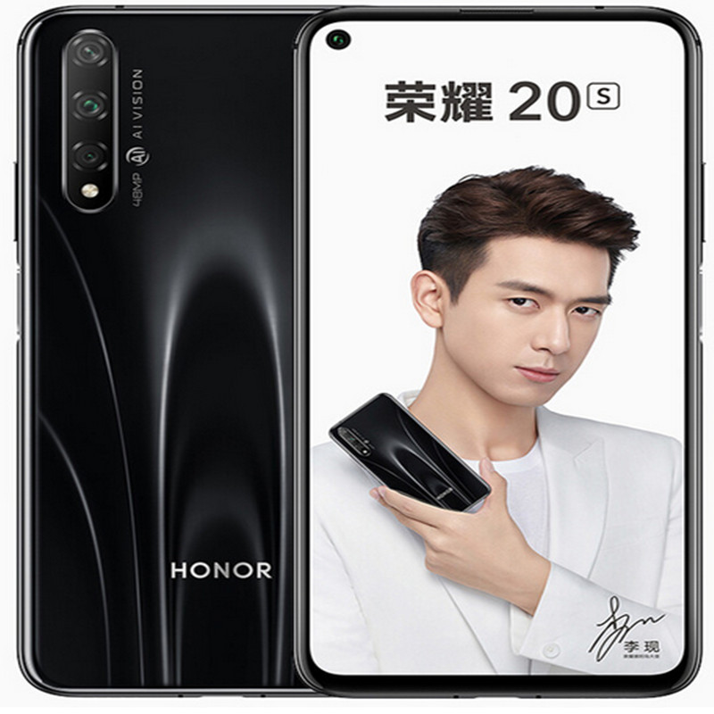 In Stock Honor 20S Huawei Orignal Global Version Smartphone 6GB+128GB Kirin 710 Octa Face Unlock Super Charge Mobile Phone