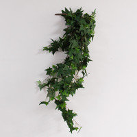 Seaweed teng Heat sale simulation plastic sea grass leaf plant wall decorative leaves green plant leaves vine branches