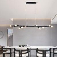 Brown/Black Modern led chandelier Kitchen Island Dining Room Shop Bar Decoration Cylinder Pipe pendant chandelier 800 1000mm