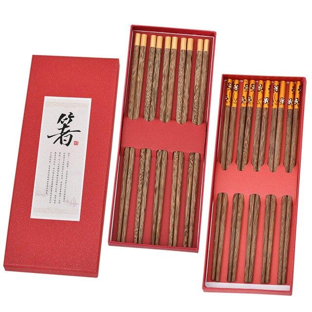 5 пар японских креативных деревянных палочек ручной работы палочки фотография