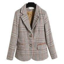 Зимняя женская одежда элегантная куртка в клетку новый приталенный