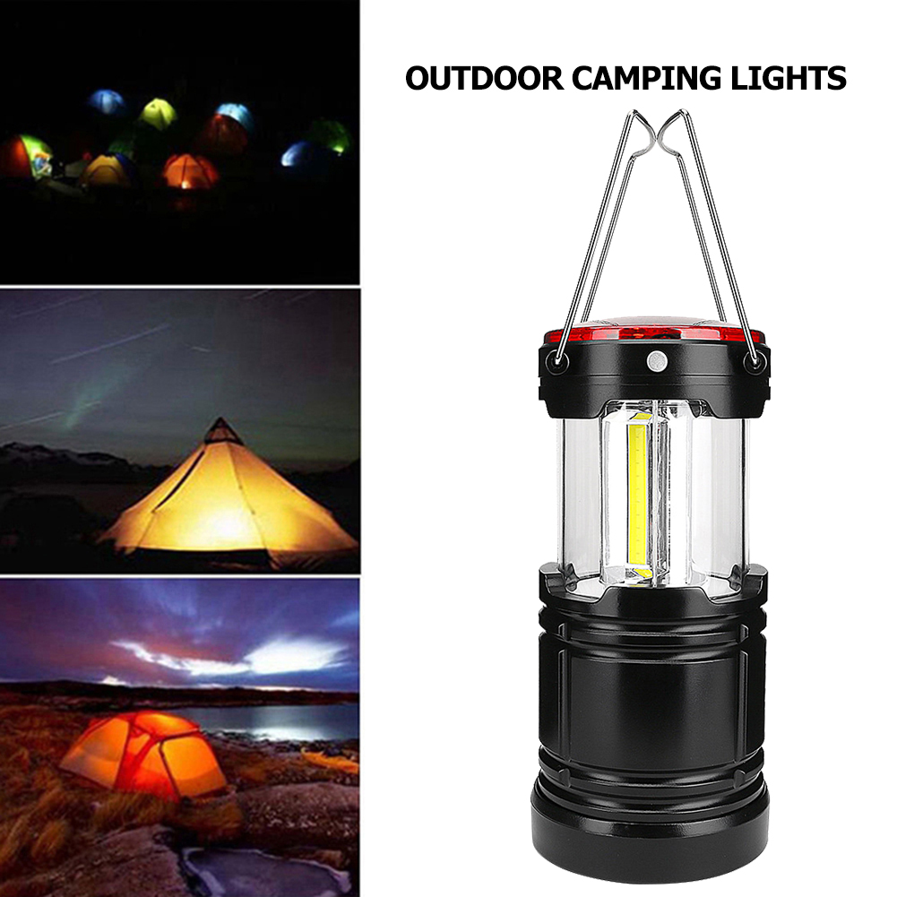 Portable LED Camping Light Outdoor Tent Lamp Hiking Fishing Lanterns Emergency Lights with Magnets Dropshipping