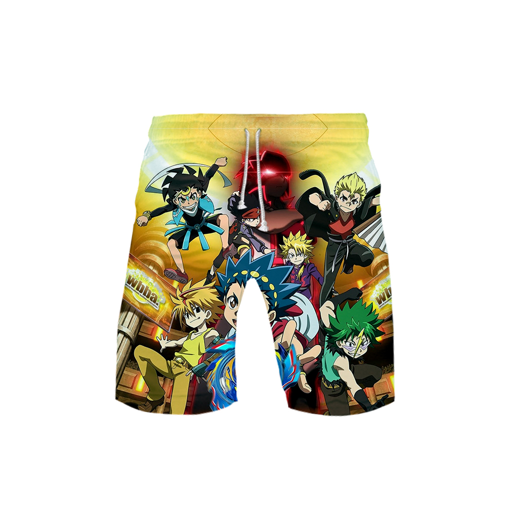 2019 3D Beyblade Burst Evolution Swimwear Swim Shorts Trunks Beach Board Shorts Swimming Pants Swimsuits Mens Running Sports