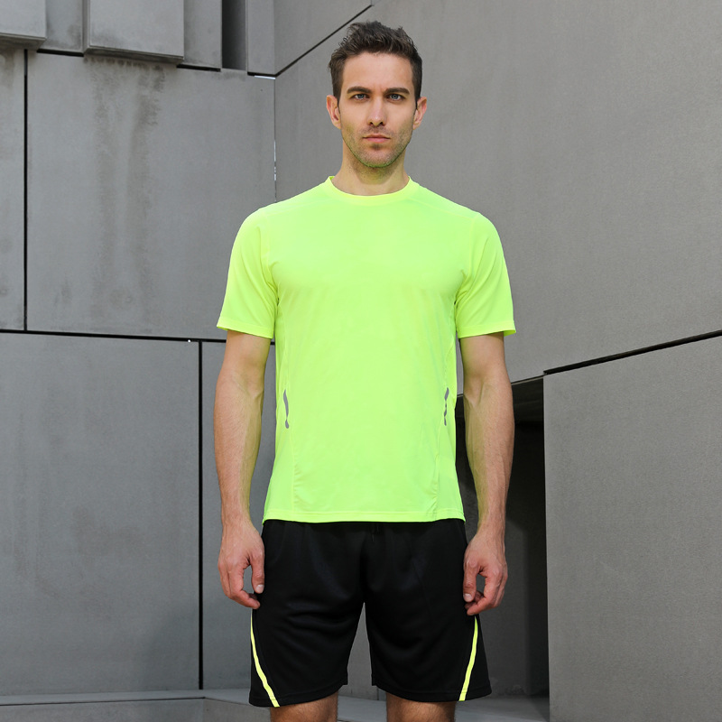 Customizable Sports Fitness Suit 2018 New Style Quick-Dry Men And Women COUPLE'S Running Wicking Training Suit