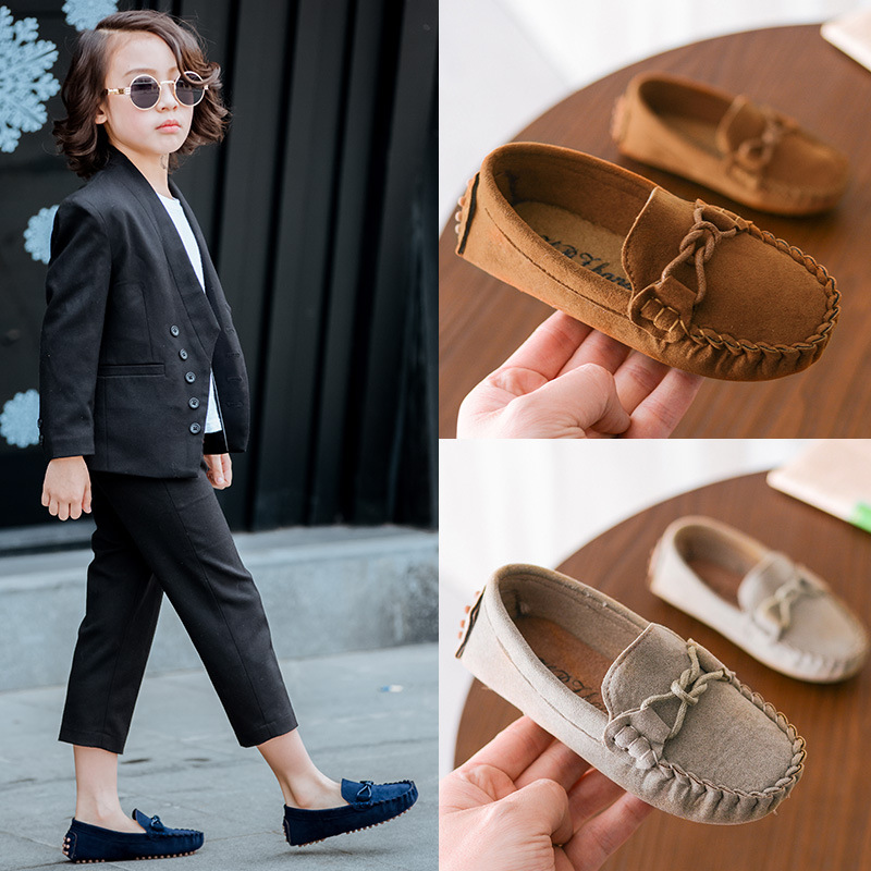 New 2020 Spring Fashion Soft Leather Kids Loafers Children Flats Casual Boat Shoes Boys Girls Slip On Loafers Moccasins