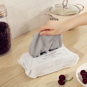Image 5 - 20PCS Disposable kitchen towel Reusable Microfiber cloth Antibacterial table rags dishcloth Disposable wet tissue Durable firm