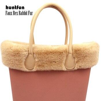 Huntfun-adorno de piel de conejo de imitación Rex, 8 colores, para bolsa...