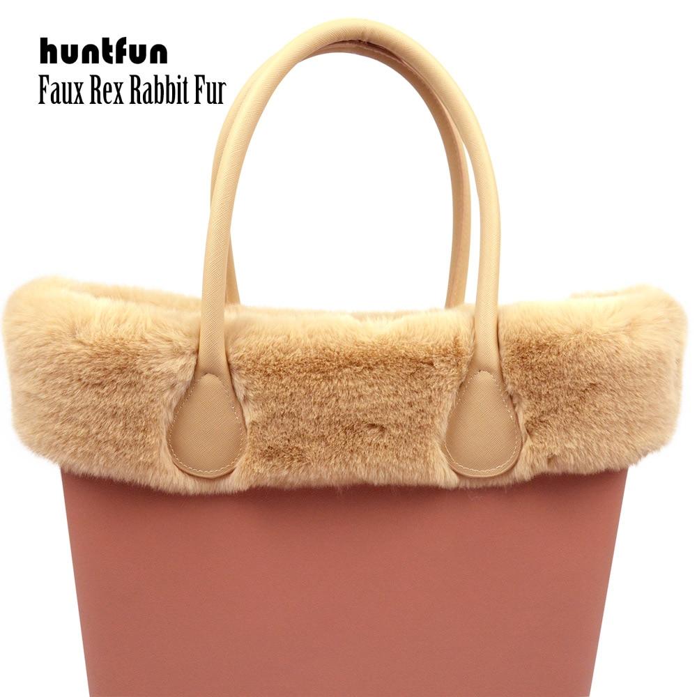 Huntfun New 8 Colors Faux Rex Rabbit Fur Plush Trim For O BAG Thermal Plush Decoration Fit For Classic Big Mini Obag For Winter