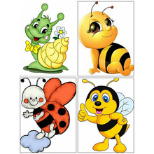Diamond Embroidery Painting Rhinestones-Pictures Mosaic Square/round Bee Cartoon Full