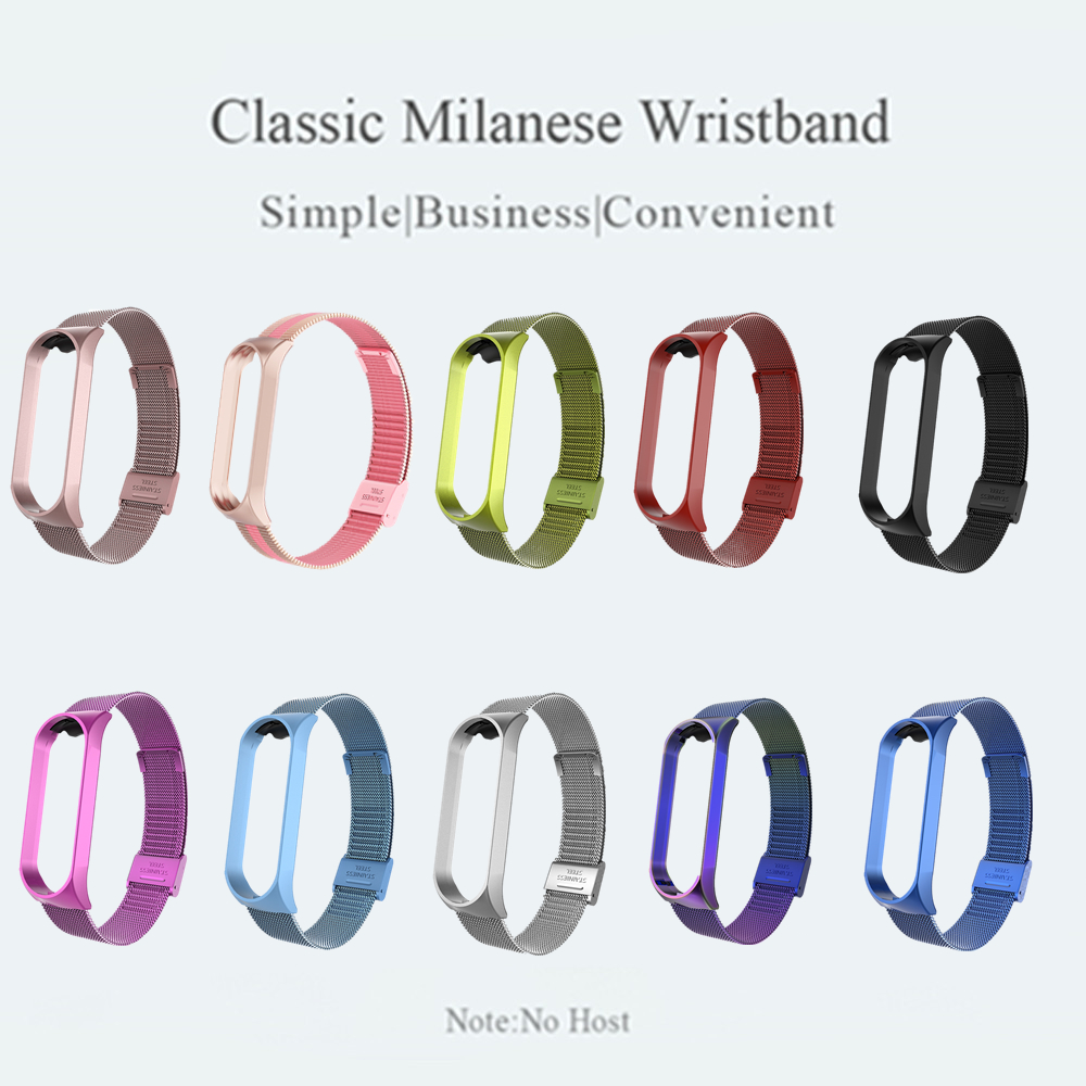 Strap For Xiaomi Mi Band 6 4 5 Wrist Metal Bracelet Screwless Stainless Steel MIband for Mi Band 4 3 5 Strap Wristbands Pulseira