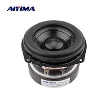 AIYIMA 1Pcs 30W 3 Inch Full Range BASS Speaker 3 Ohm Portable Audio Speaker Driver Long Stroke Loudspeaker Aluminum Basin Rubber