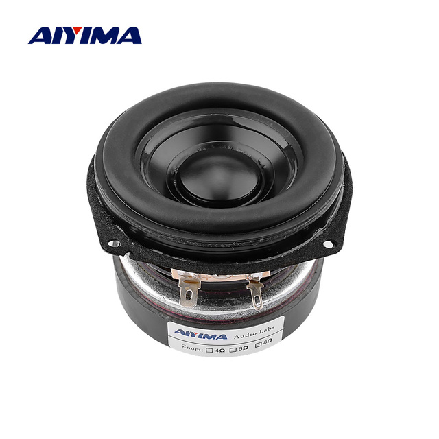 AIYIMA 1Pcs 30W 3 Inch Full Range BASS Speaker 3 Ohm Portable Audio Speaker Driver Long Stroke Loudspeaker Aluminum Basin Rubber