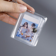 16 Мини Фотоальбом брелок небольшой мгновенный фотоальбомы кулон ID хранение фотографий интерстициальной Карманный Брелок-открывалка Lover па...