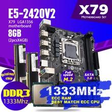 Atermiter X79 האם מיני מחשב משחקי Xeon LGA 1356 E5 2420 V2 מעבד 2x4GB = 8GB 1333MHz DDR3 ECC REG זיכרון RAM PC3 10600R USB