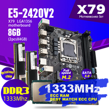 Atermiter X79 motherboard mini pc gaming Xeon LGA 1356 E5 2420 V2 cpu 2x4GB = 8GB 1333MHz DDR3 ECC REG speicher RAM PC3 10600R USB