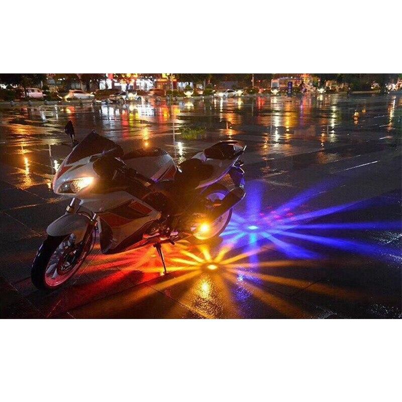 Купить с кэшбэком 1pcs Motorcycle Car LED Chassis Light Decorative Light Under Motorbike Motocross Scooter Flasher Tail Brake Atmosphere Lamp