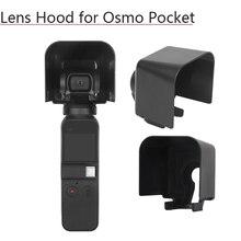 Lens kapağı koruyucu kapak güneş Hood güneşlik koruyucu güvenlik parlama kalkanı kasa el Gimbal aksesuarları DJI Osmo cep