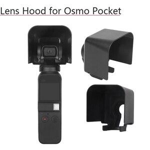 Image 1 - Lens kapağı koruyucu kapak güneş Hood güneşlik koruyucu güvenlik parlama kalkanı kasa el Gimbal aksesuarları DJI Osmo cep