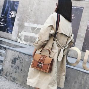 Image 3 - Handbag Fashion Small Shoulder Bags for Women 2020 PU Leather Crossbody Bag High Quality Ladies Hand Bag Chain Rivet Decoration