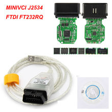 Mini Vci TIS Techstream V15.00.028 para Toyota Minivci FTDI para J2534 USB Para OBD2 16PIN MINI-VCI Cabo de Diagnóstico Auto Scanner