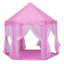 Play Fairy House Indoor And Outdoor Kids Play Tent Hexagon Princess Castle Playhouse For Girls Funny(China)
