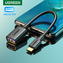 UGREEN USB C to USB Adapter Type C OTG Cable USB C Male to USB 3.0 A Female Cable Adapter for MacBook Pro Samsung S9 USB-C OTG