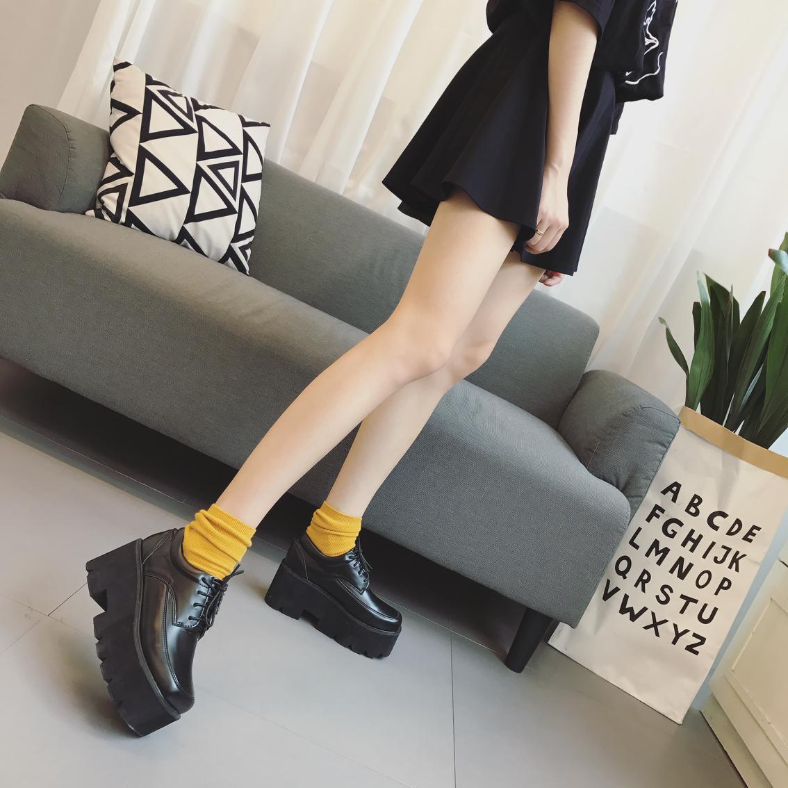 Sapatos Da Moda Única Fêmea Rodada Cabeça Alunos Laço Sapatos Casuais