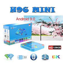 TV Box brasil smart tv box H96 MINI Allwinner H6 Quad Core 6K H.265 Wifi Bluetooth 4GB 128GB android 9.0 Set top 4GB32GB