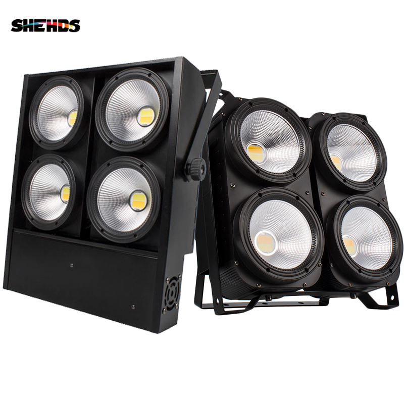 SHEHDS 4x100W 4 Eyes/200W 1Eye /2 Eyes LED Blinder Lights COB Cool And Warm White  For Dj Disco Party Stage Free Shipping