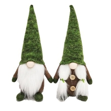 2-Piece-Set Faceless-Doll Gnome Plush-Toy Christmas-Party Santa-Claus Creative Green