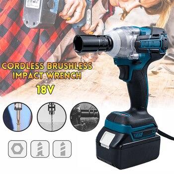 Destornillador eléctrico con llave de impacto, Herramientas eléctricas, Taladro Inalámbrico para Makita...
