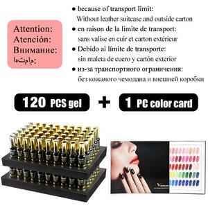 Image 4 - 2020 New 120 spring color 12ml Venalisa gel polish vernish color gel polish for nail art design whole set nail gel enamel kit