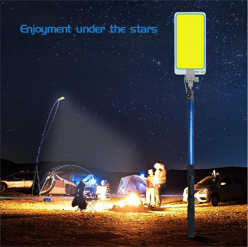 Outdoors Road Travel Household Emergency Lighting Ip65 Rechargeable 12V 47W COB Dimmable 4.5m Telescopic Post LED Floodlights