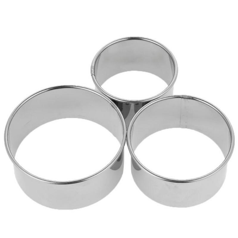 3Pcs/1Set Round Dumplings Wrapper Mold Set Cutter Dough Cutting Stainless Steel