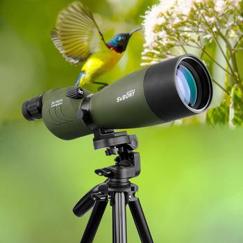 SVBONY teleskop 25-75 #215 70 Zoom luneta SV17 BAK4 pryzmat FMC powłoka soczewki lornetka na polowania wodoodporna optyka zewnętrzna do polowania strzelania łucznictwa obserwowania ptaków tanie i dobre opinie SV17 Straight Spotting Scope 25-75x 70mm 15mm 380mm Porro 64-43 ft 1000 YDS Fold Down Rubber Metal 16-14mm Astronomy Telescope