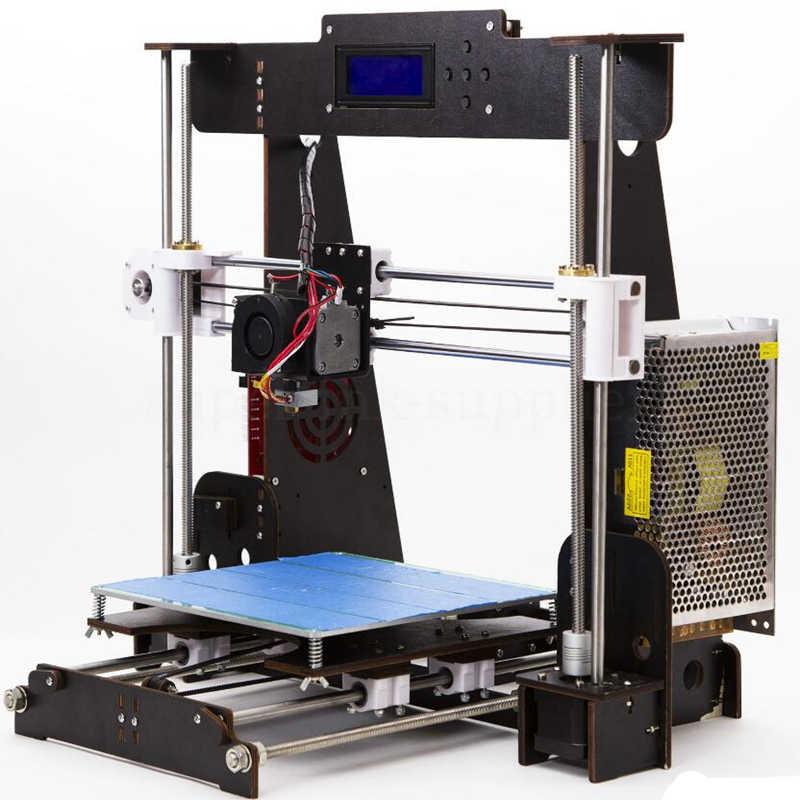 Impresora 3D A8 W5 Reprap Prusa i3 DIY MK8, impresora LCD 3d Drucker, impresora impresa de Imprimante, hoja de impresión de fallo de energía