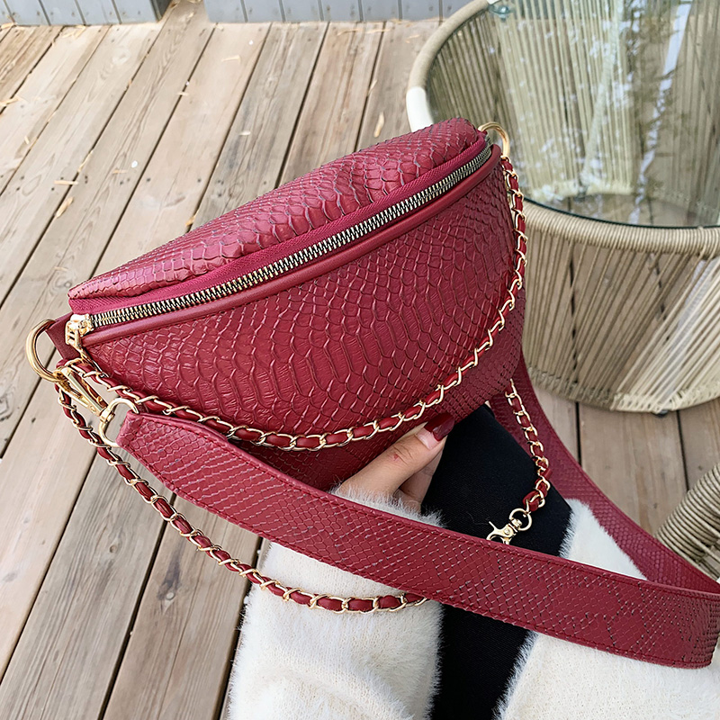 Crocodile Pattern PU Leather Crossbody Bags For Women 2020 Small Shoulder Messenger Bag Female Travel Handbags Chain Bag